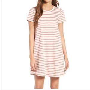 Madewell striped retreat dress size small